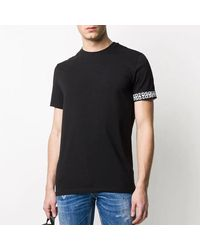 T-shirt con logo sulla manica di DSquared² in Black da Uomo