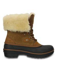 CROCSTM Brown AllCast II Luxe Boot Stiefel