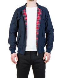 Baracuta Blue G9 Modern Classic Harrington Jacket Navy for men