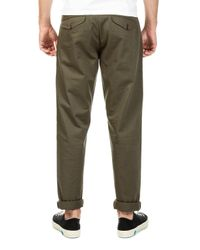 Universal Works Green Aston Pant Twill Olive for men