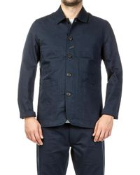 Universal Works Blue Bakers Jacket Twill Navy for men