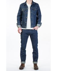 Lee Jeans - Blue Rider Jacket Indigo Dry Selvage 12oz for Men - Lyst