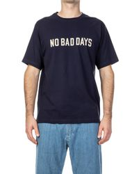 Universal Works Blue No Bad Days Tee Navy for men