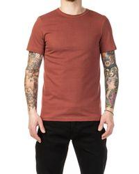 Merz B. Schwanen Red 215 Army Shirt 1/4 Copper for men