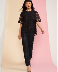 Cynthia Rowley - Black Crossfade Lace Pant - Lyst