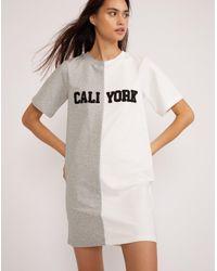 Cynthia Rowley Multicolor Embroidered Caliyork T-shirt Dress