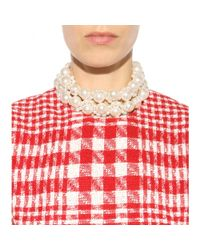 Simone Rocha | White Faux Pearl Necklace | Lyst