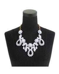 J.Crew - White Bead Droplet Statement Necklace - Lyst