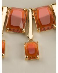 Marc By Marc Jacobs | Orange Faceted Cabochon Necklace | Lyst