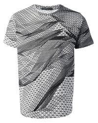 Christopher Kane White Landscape Digital Printed Tshirt for men