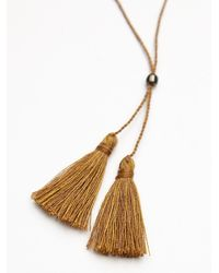 Free People - Natural Anu Tassel Necklace - Lyst