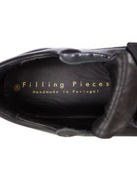 Filling Pieces Black Single Strap Low Top Sneakers for men