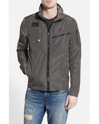G-Star RAW | Gray 'recolite' Lightweight Military Jacket for Men | Lyst