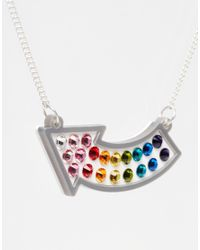 Tatty Devine | Metallic Fairground Lights Arrow Necklace | Lyst