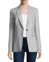 Veronica Beard - Gray Long & Lean Herringbone Jacket for Men - Lyst