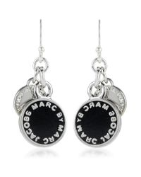 Marc By Marc Jacobs | Black Enamel Disc Earrings | Lyst