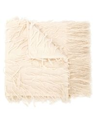 Denis Colomb - Natural Fringed Scarf - Lyst