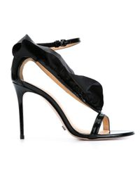 Viktor & Rolf - Black Ruffle Stiletto Sandals - Lyst