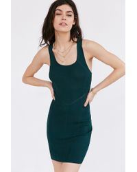 Silence + Noise | Green Evie Seamed Bodycon Dress | Lyst