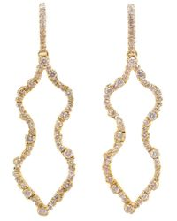 Kimberly Mcdonald | Metallic Irregular Diamond Outline Femme Earrings | Lyst