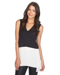1.STATE | Black Sleeveless Colorblock Tunic | Lyst