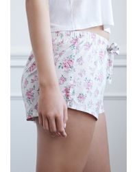 Forever 21 | Pink Clustered Rose Pj Shorts | Lyst