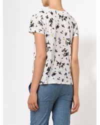 Proenza Schouler | White Floral Tee Shirt | Lyst