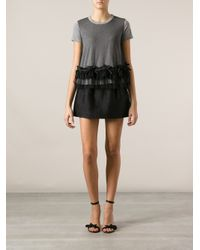 RED Valentino Gray Tulle Detailed T-Shirt