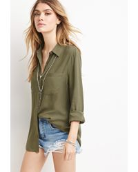 Forever 21 - Green Classic Collared Shirt - Lyst