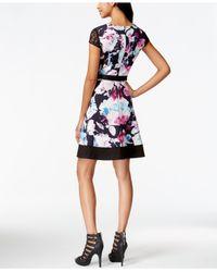 Jessica Simpson | Multicolor Floral-print A-line Dress | Lyst