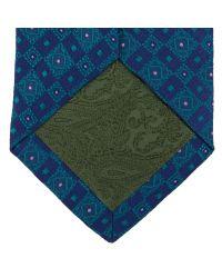Turnbull & Asser - Blue Slim Zigzag Navy Silk Tie for Men - Lyst