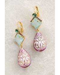 Elizabeth Cole | Green Swirled Drop Earrings | Lyst