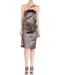Rick Owens | Gray Metallic Dress | Lyst