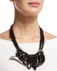 Eskandar | Black Multi-pendant Leather-cord Necklace | Lyst
