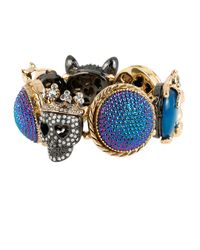 Betsey Johnson   Blue Dark Shadows Critter Stretch Bracelet   Lyst