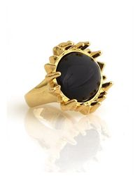 House of Harlow 1960 - Black Spike Cocktail Ring - Lyst