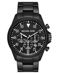 MICHAEL Michael Kors | Black Michael Kors 'gage' Chronograph Bracelet Watch for Men | Lyst