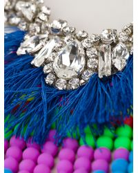 P.A.R.O.S.H. - Blue Tassel Necklace - Lyst
