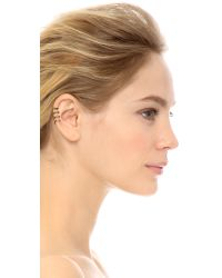 House of Harlow 1960 | Metallic Engraved 4 Ring Ear Cuff Gold | Lyst