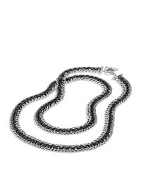 David Yurman | Metallic Three-row Chain Necklace, 18"