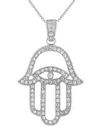 V Jewellery | Metallic 'mythos Hamsa' Pendant Necklace | Lyst