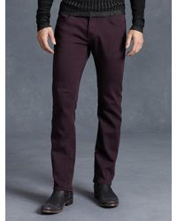 John Varvatos | Purple Cotton Bowery Jean for Men | Lyst