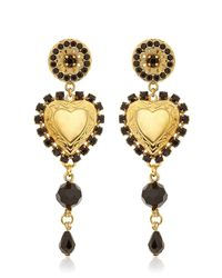 Dolce & Gabbana | Metallic Heart Pendant Clip Earrings | Lyst