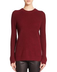 Rag & Bone | Red Valentina Ribbed Cashmere Sweater | Lyst