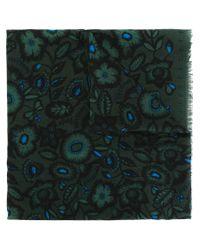 KENZO - Green 'shadow Flowers' Scarf - Lyst