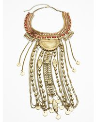 Free People - Red Exaggerated Fringe Collar - Lyst