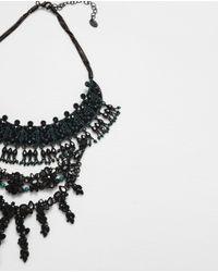 Zara | Green Jewel Pendant Necklace | Lyst