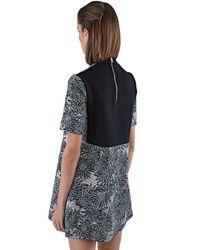 Marni - Gray Women's Bonded Metallic Jacquard Dress In Lilac - Lyst