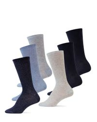Pink Pony | Blue 6-pack Rib Polo Trouser Socks | Lyst