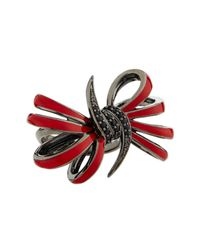 Stephen Webster | Four-loop Red Bow & Black Sapphire Ring | Lyst